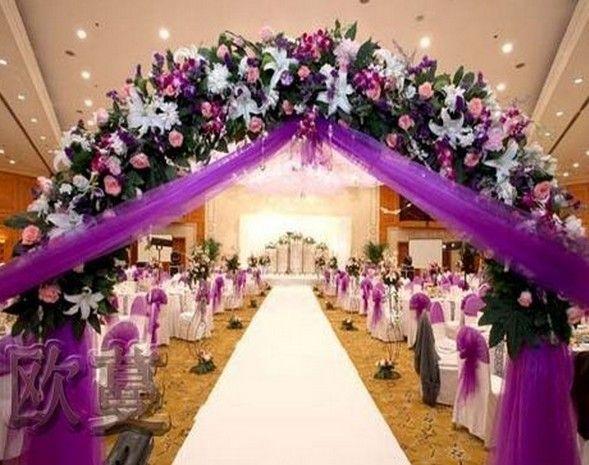 Wedding Ceremony Ideas Flower Covered Wedding Arch: High Quality Silk Rose Lily Flower Wedding Arches,wedding