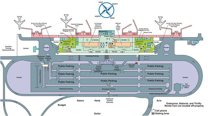 Lih Airport Map With Images Airport Map Lihue Kauai