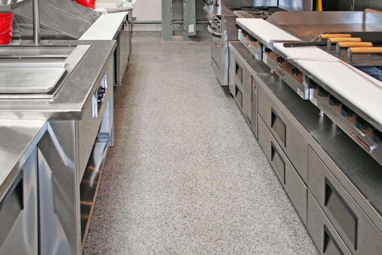 Healthy Hygienic Commerical Kitchen Restaurant Flooring In 2020 Restaurant Flooring Restaurant Kitchen Flooring