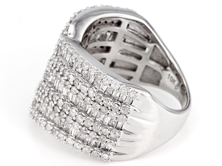 White Diamond 10k White Gold Ring 2 00ctw White Gold Rings White Gold Diamond