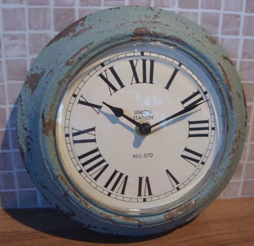 Too Small Unfortunately Blue Wall Clocks Duck Egg