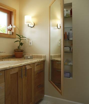 Full Length Mirror In Bathroom Conceals Storage DIY Ideas - Bathroom compartment