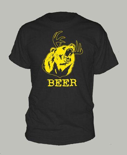 DEER BEER BEAR ~ T-shirt philadelphia mac sunny always
