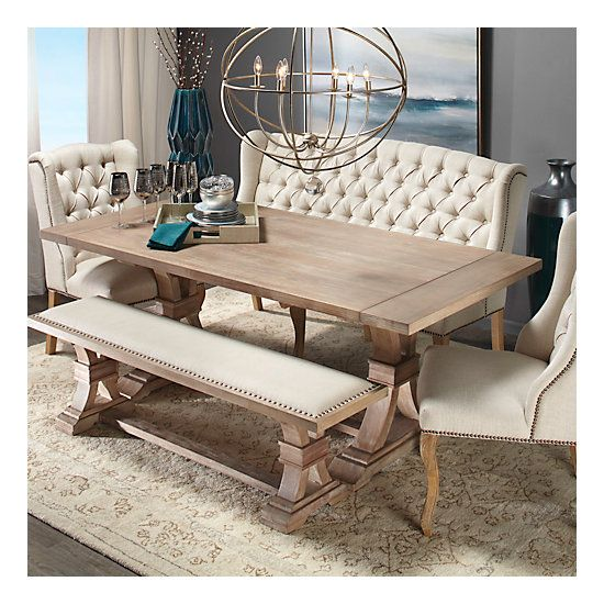 Excellent Archer Wash Oak Extending Dining Table In 2019 Dining Room Machost Co Dining Chair Design Ideas Machostcouk