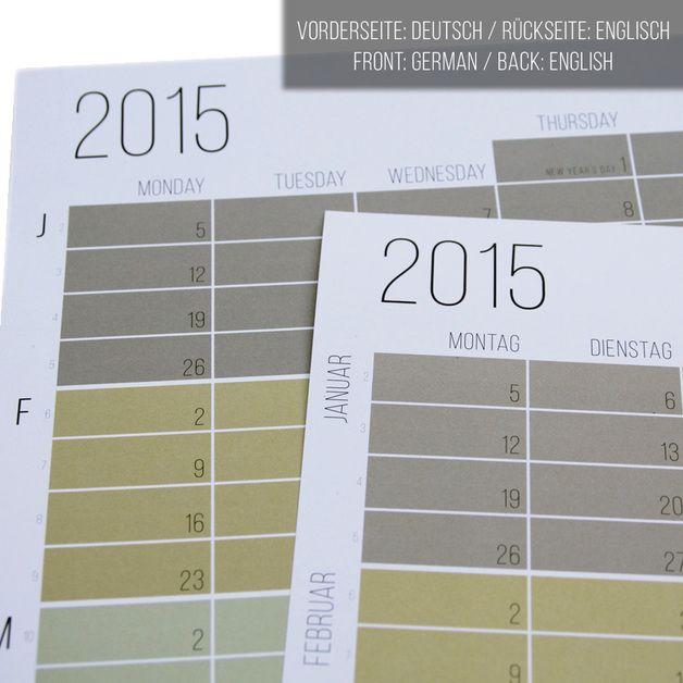 wandkalender kalender 2015 pastell wandkalender 2015 t rkis ein designerst ck von wi la no. Black Bedroom Furniture Sets. Home Design Ideas