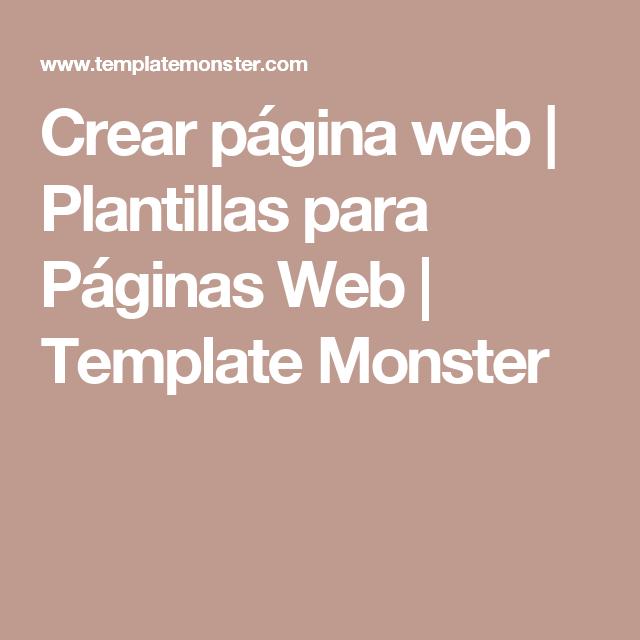 Сrear página web | Plantillas para Páginas Web | Template Monster