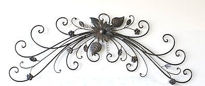28 Inch Wrought Iron Metal Wall Topper Wall Swag Metal Art With