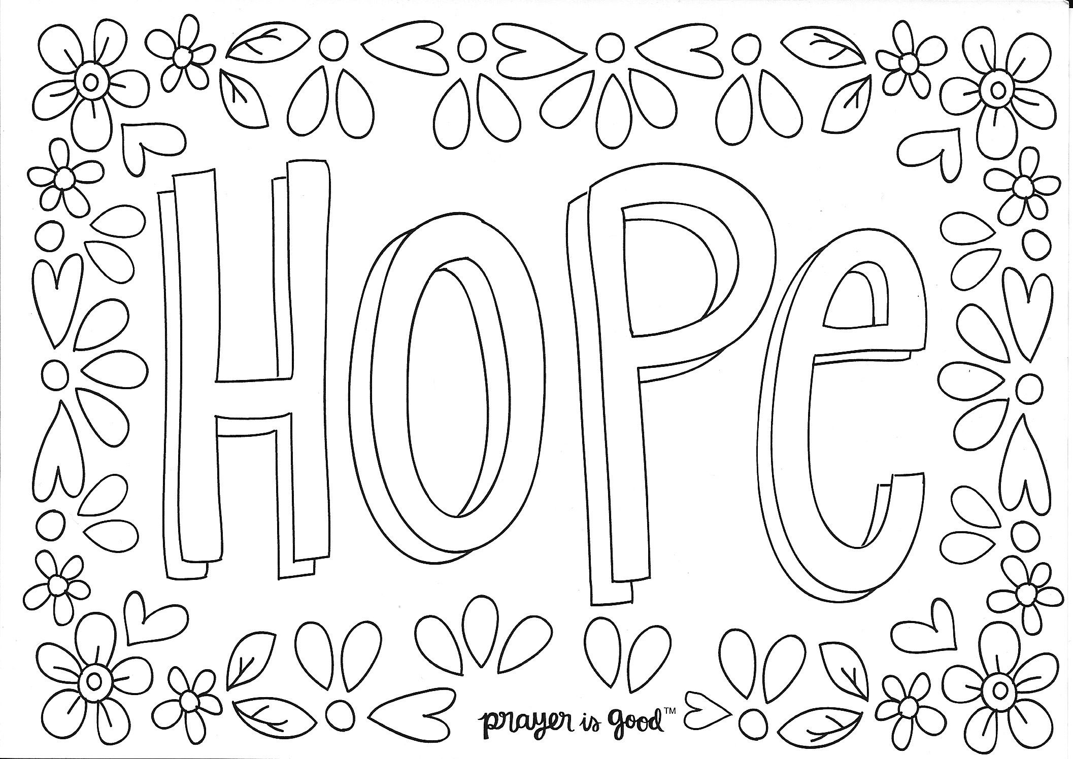 This is an image of Peaceful Hope Coloring Pages Printable