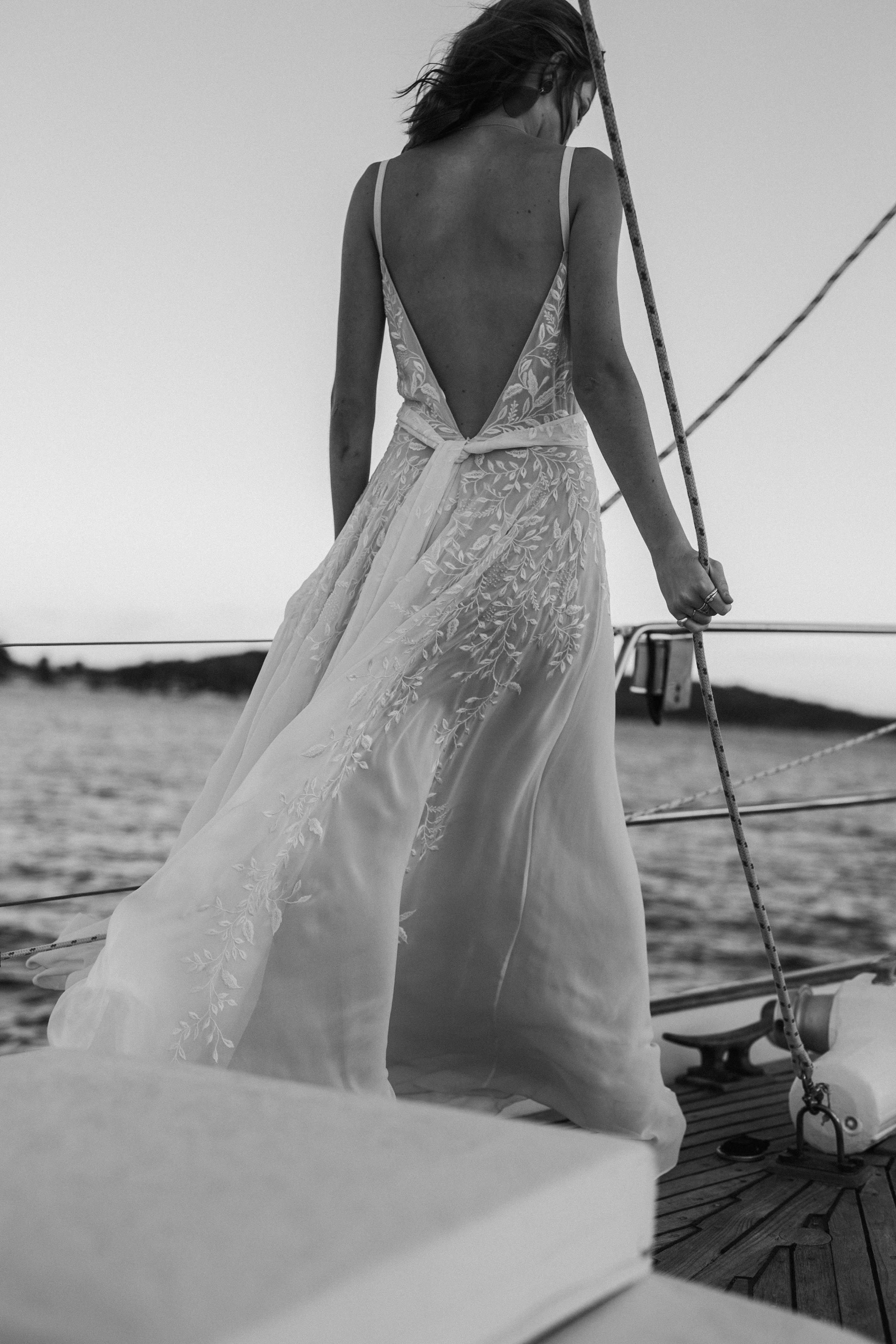 Piece by lueto bridal simple yet stunning wedding dress hand