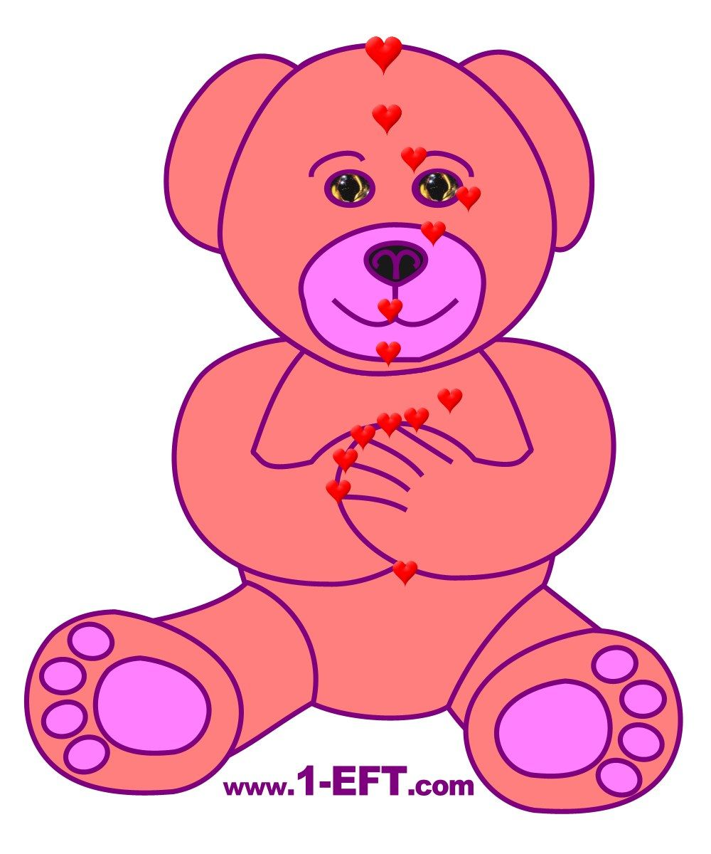 eft pink teddy bear for kids energy eft diagram | eft meridian, Muscles