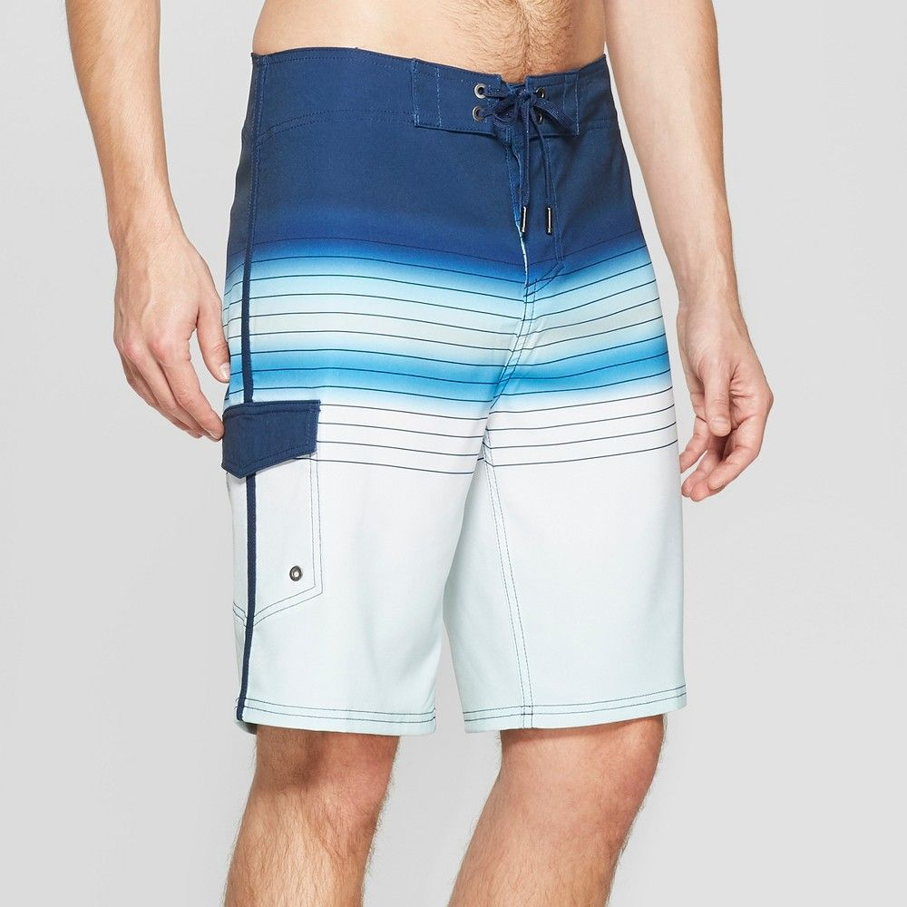 afd652f10b Men's 10 Striped Sandy Board Shorts - Goodfellow & Co Blue 36 ...