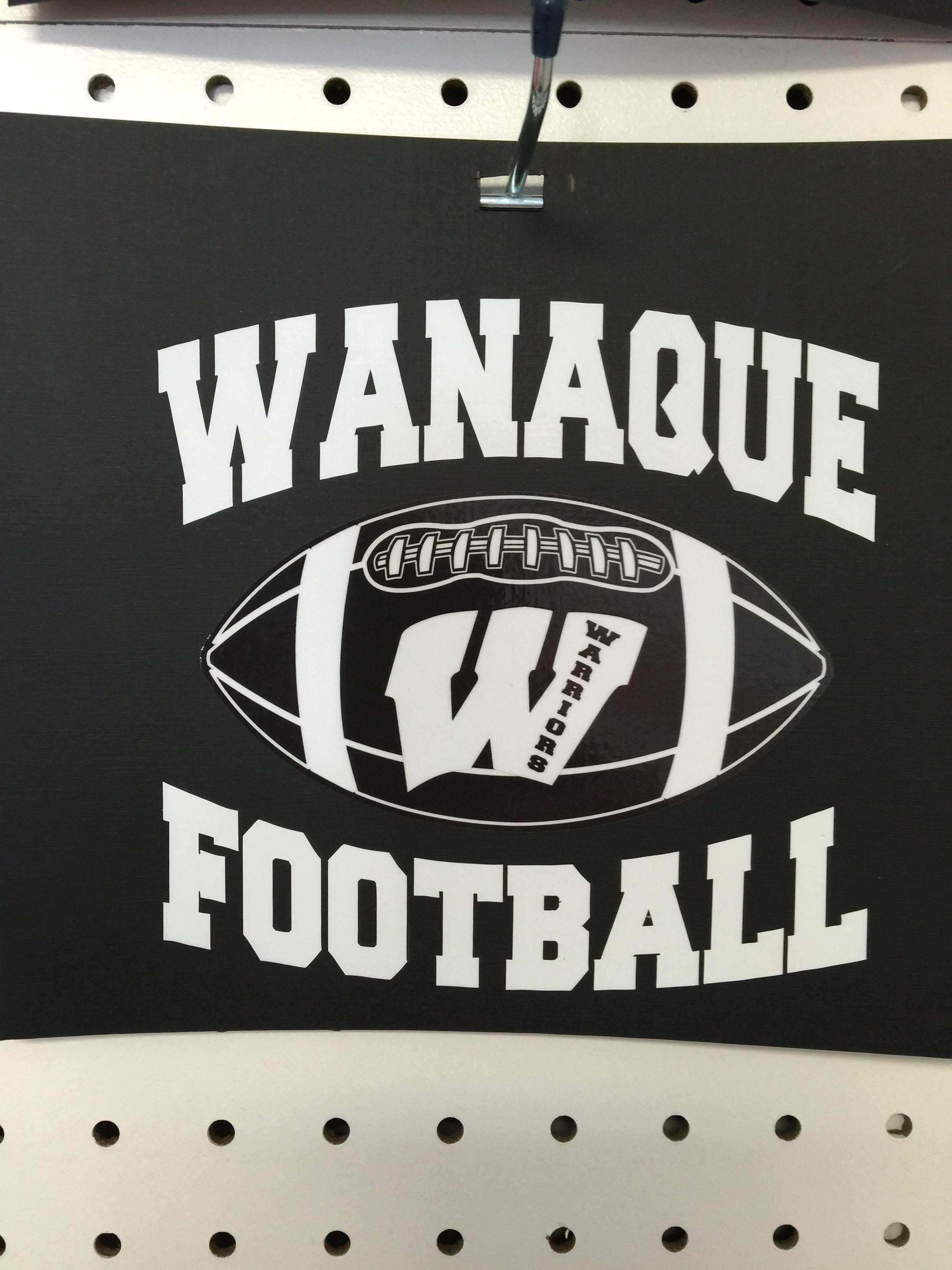 Wanaque Warriors Car Decal Car Decals Wanaque Ringwood