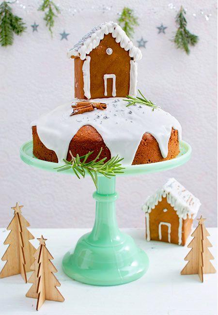 winterwonderland kuchen mit lebkuchenhaus rezept neue ideen f r weihnachten kuchen. Black Bedroom Furniture Sets. Home Design Ideas