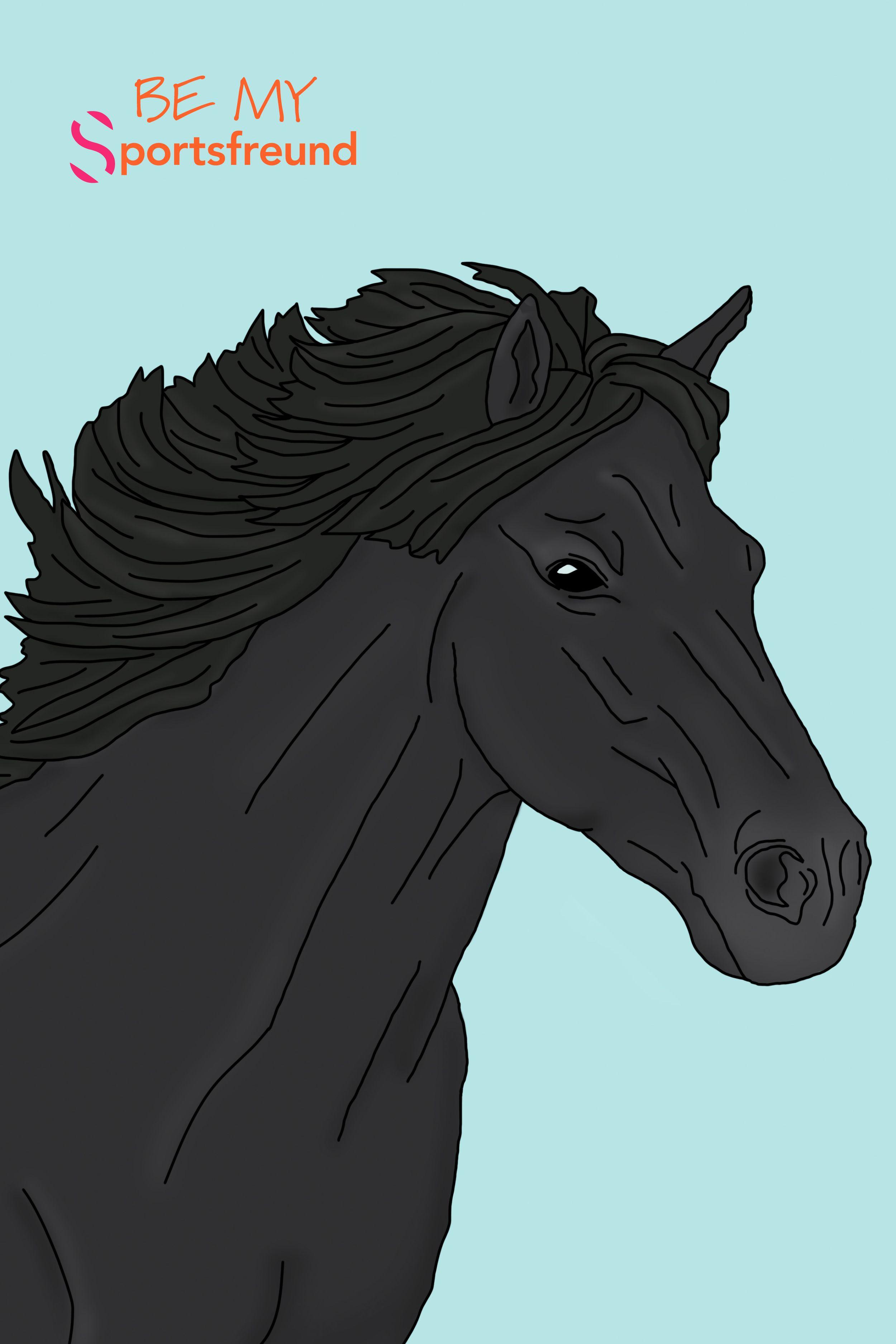 ausmalbilder pferde isl舅der  amorphi