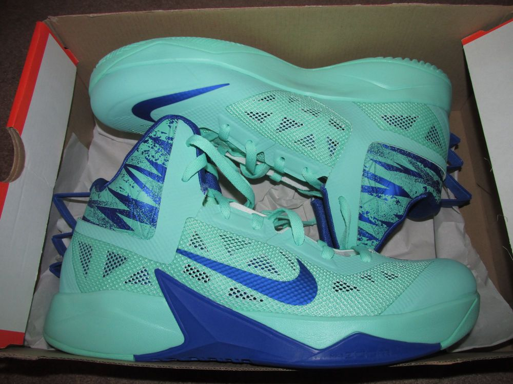 Nike Zoom Hyperfuse 2013 Mens Basketball Shoes 11.5 Green