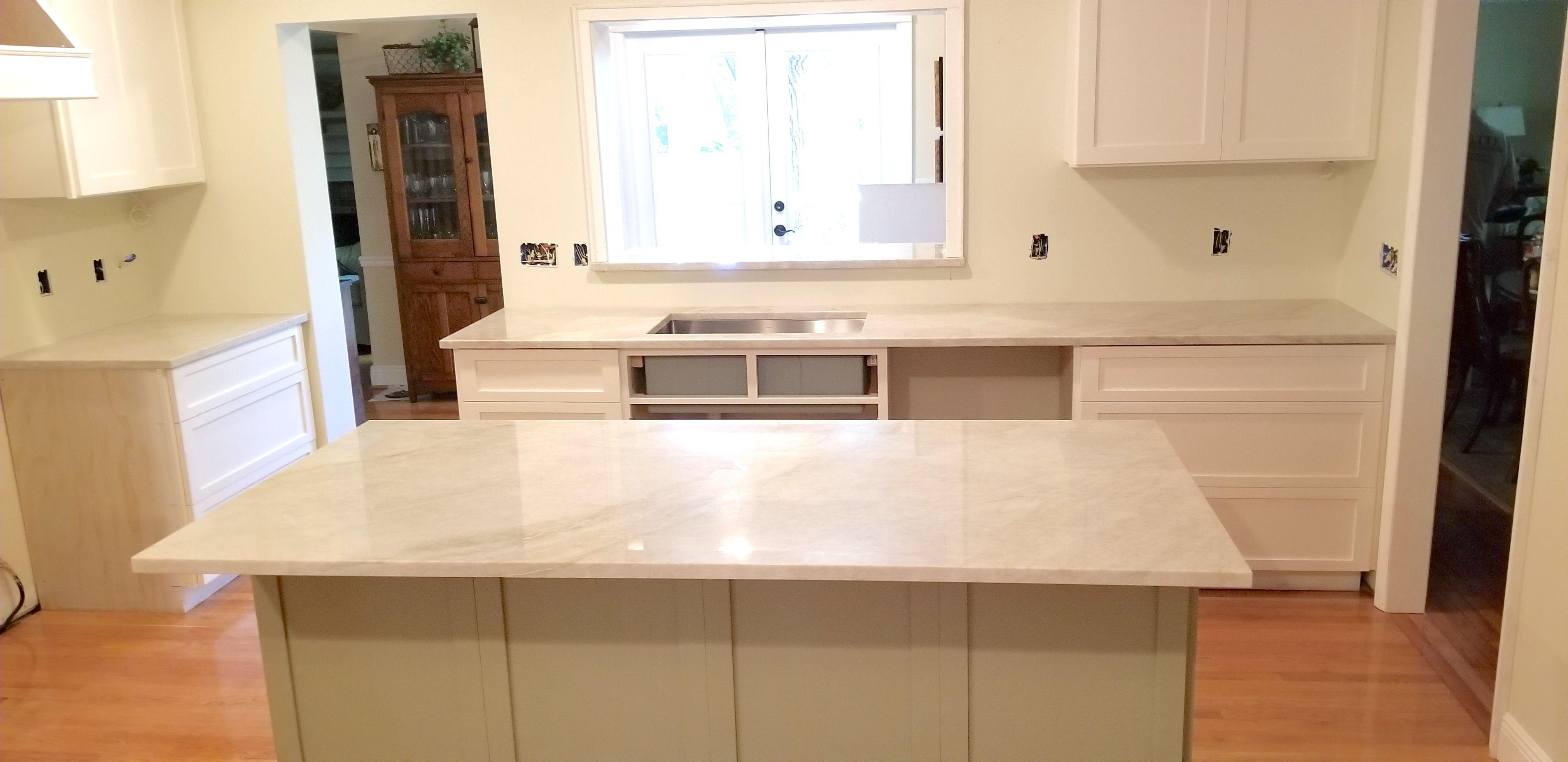 Beautiful Kitchen Island Countertop Using Astonishing Venatino Phoenix Quartz Designed Polished A Kitchen Island Countertop Island Countertops Countertops