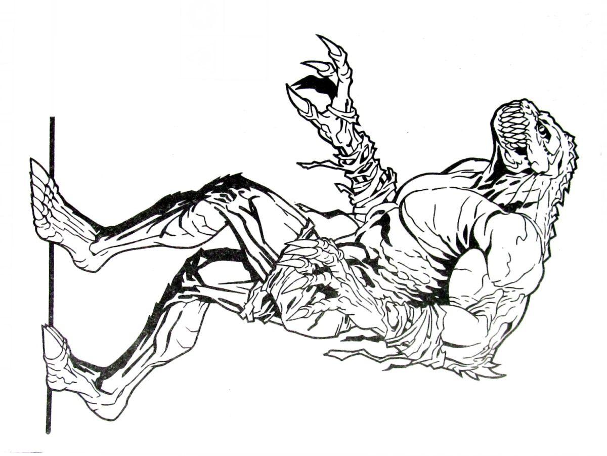 killer croc batman coloring book page printable batman coloring