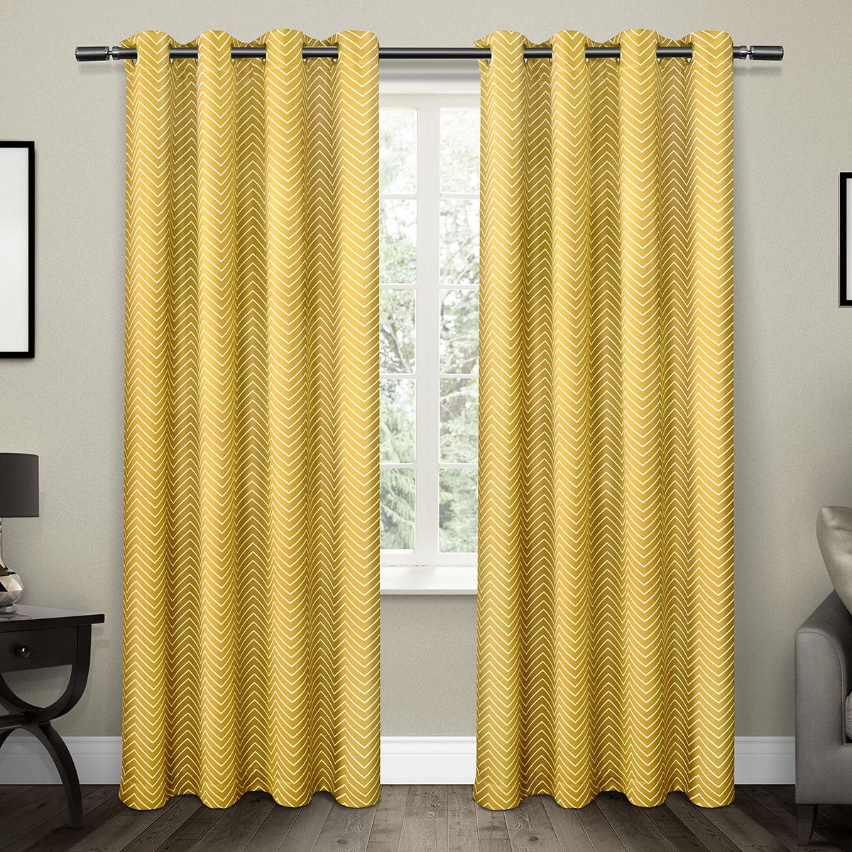 Stacia Thermal Grommet Curtain Panel Pair Curtains Exclusive Home Grommet Curtains