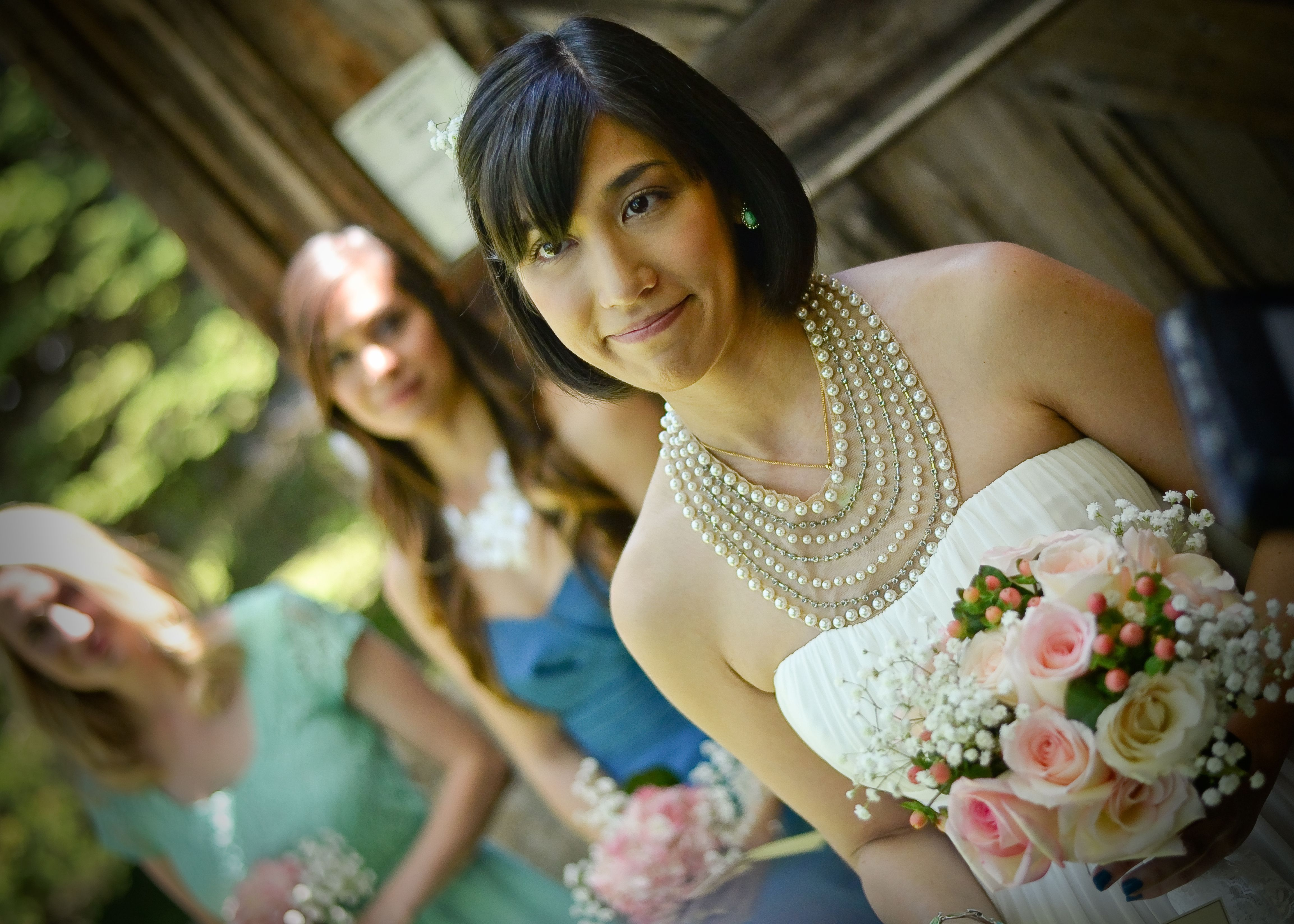 Capturing the bride during a recent wedding at Baldwin's ...