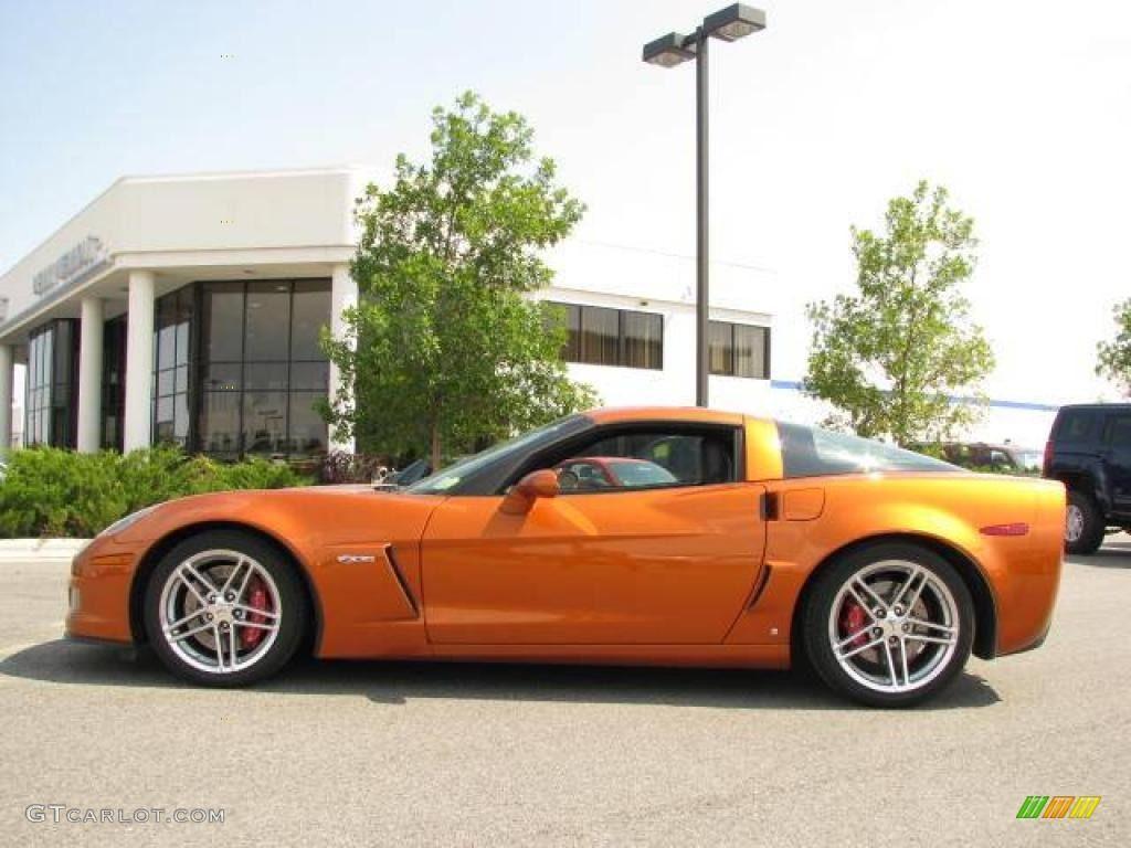2007 Atomic Orange Metallic Chevrolet Corvette Corvette Orange Car Vette