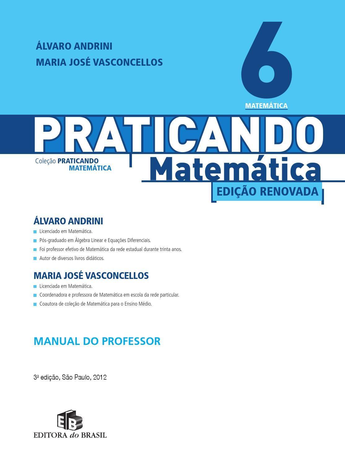 Praticando Matematica 6ano Cadernos De Matematica Matematica Pdf