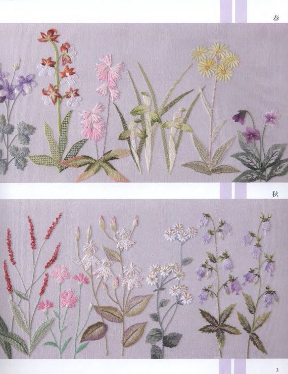 Herb botanical embroidery pattern by librarypatterns