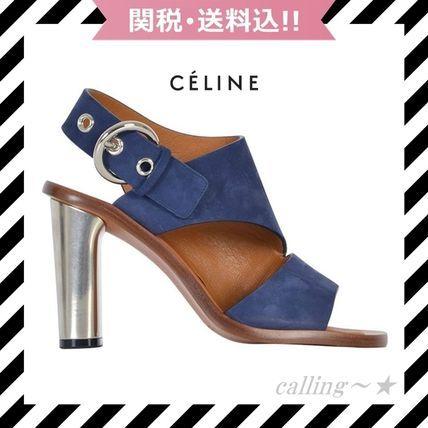 SALE!!★CELINE★Suede Sandal With Side Clasp