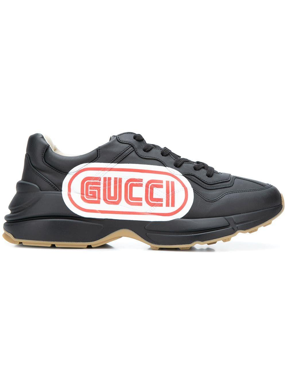 a445f520824 GUCCI GUCCI SNEA PELLE S GOMMA APOLLO - BLACK.  gucci  shoes