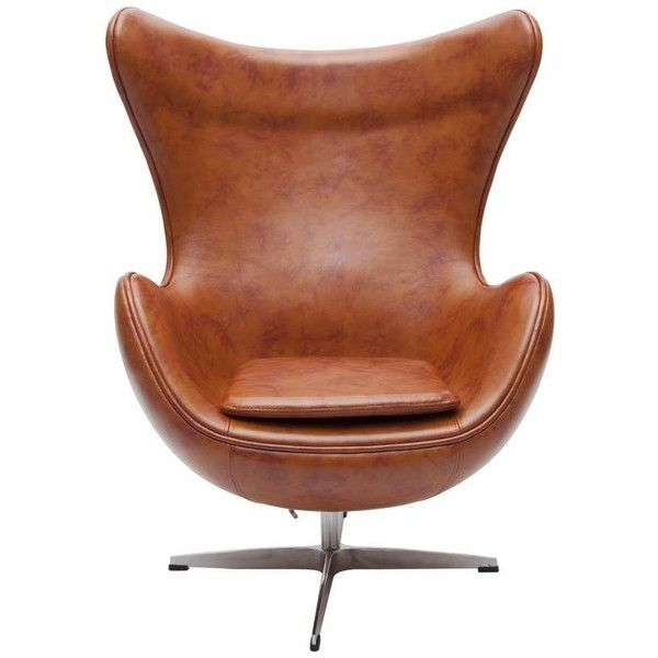 Wonderful I Love Retro Retro Egg Chair Vintage Tan Faux Leather ❤ Liked On Polyvore  Featuring Home, Furniture, Chairs, Chair, Decor, Leatherette Chair, Mocha  Chair, ...
