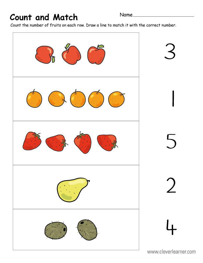 Count And Match 7b Jpg 773 1000 Kindergarten Math Worksheets Kindergarten Worksheets Preschool Math Worksheets
