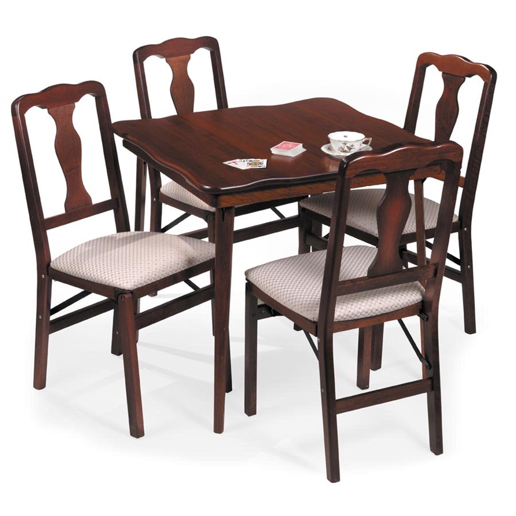 Cherry game folding table folding bridge tables