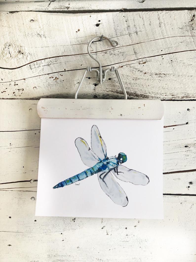 Photo of Blue Dragonfly Art Print