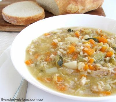 Chicken and vegetable soup- nice and simple