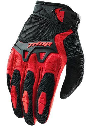 14e59c53 SPECTRUM RED YOUTH GLOVE Thor Motocross, Mountain Bike Gloves, Mountain  Biking, Thor Mx