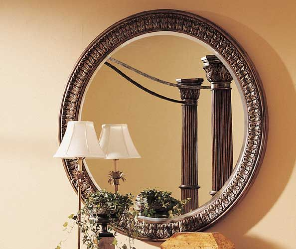 Salerno Round Wall Mirror By Pulaski Comes In A Traditional Style