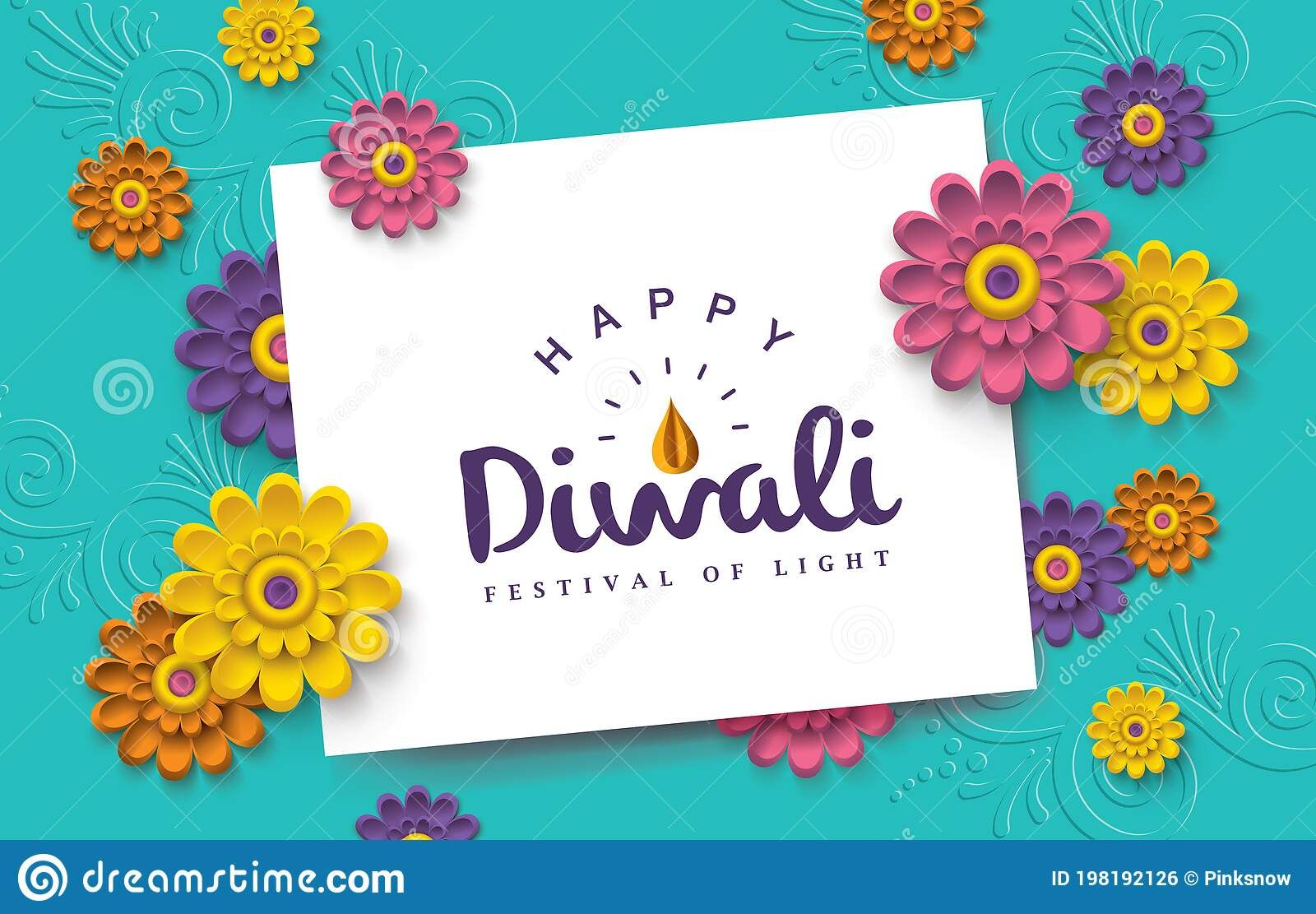 Happy Diwali Diwali Greeting Card With Beautiful Flowers And Space For Your Tex Sponsored Diwali Gre In 2021 Diwali Greeting Cards Diwali Greetings Happy Diwali