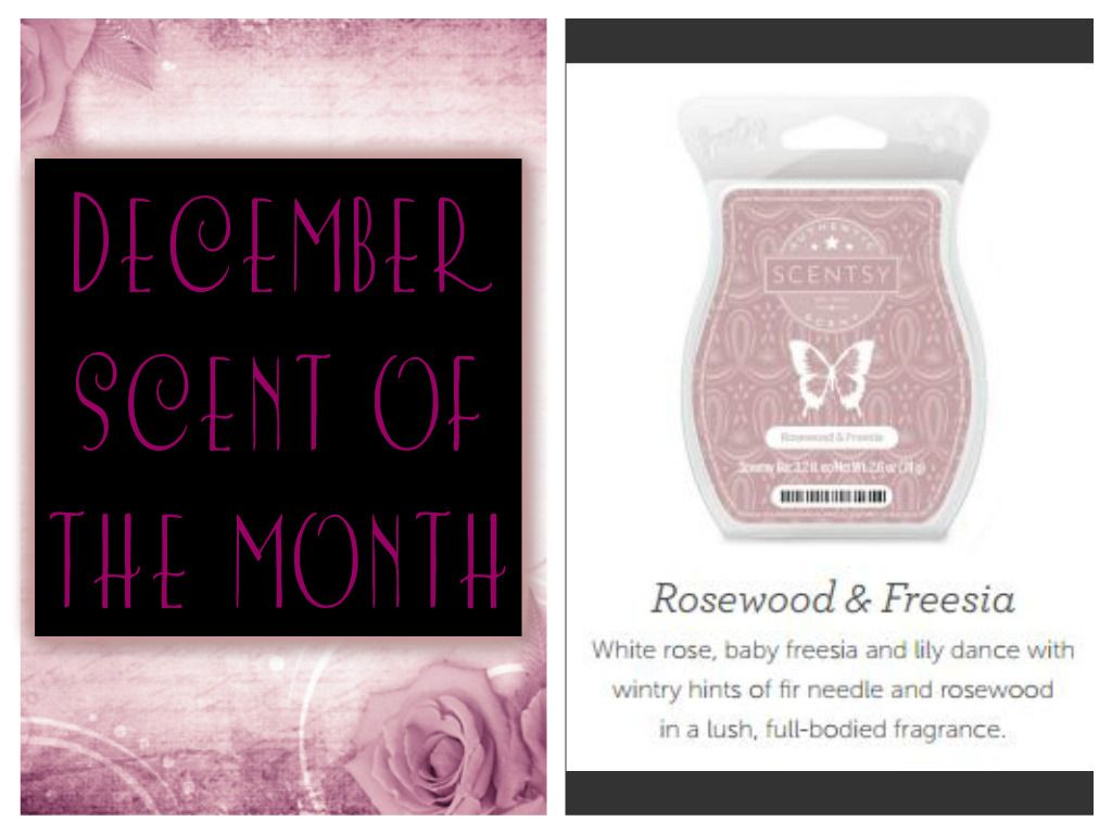 December Scent of the Month!  Rosewood & Freesia!  www.waxwarmersdelight.com