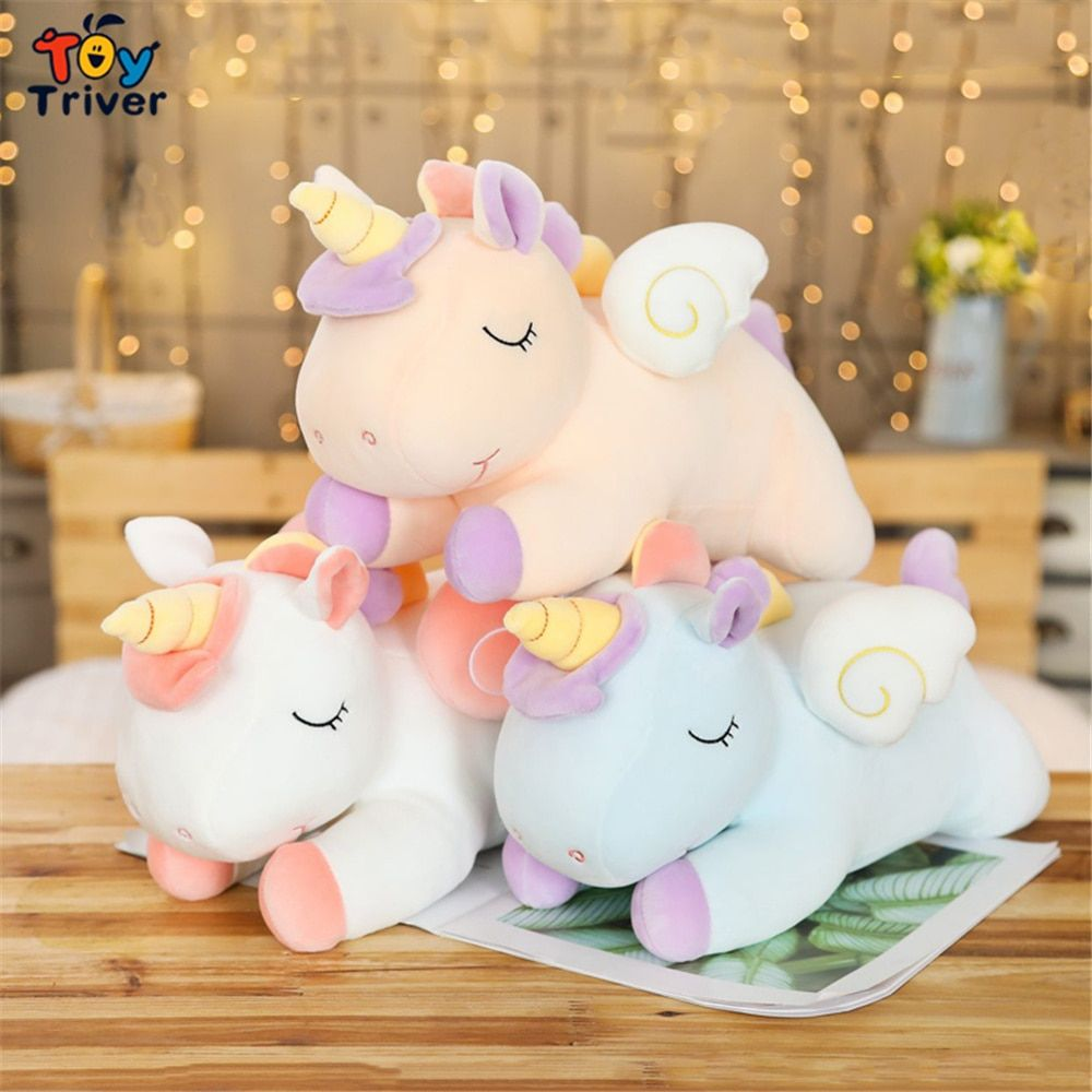 Kawaii Unicorn Plush Toy Triver Stuffed Animals Doll Pillow Cushion Baby Kids Children Boy Girls Gift Home Roo Unicorn Plush Plush Animals Kids Birthday Gifts [ 1000 x 1000 Pixel ]