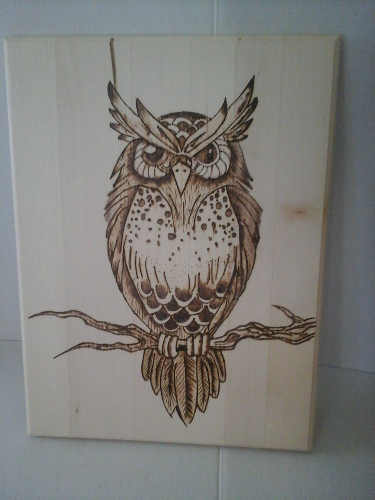 Items similar to Wood Burned Hoot Owl Art on Etsy