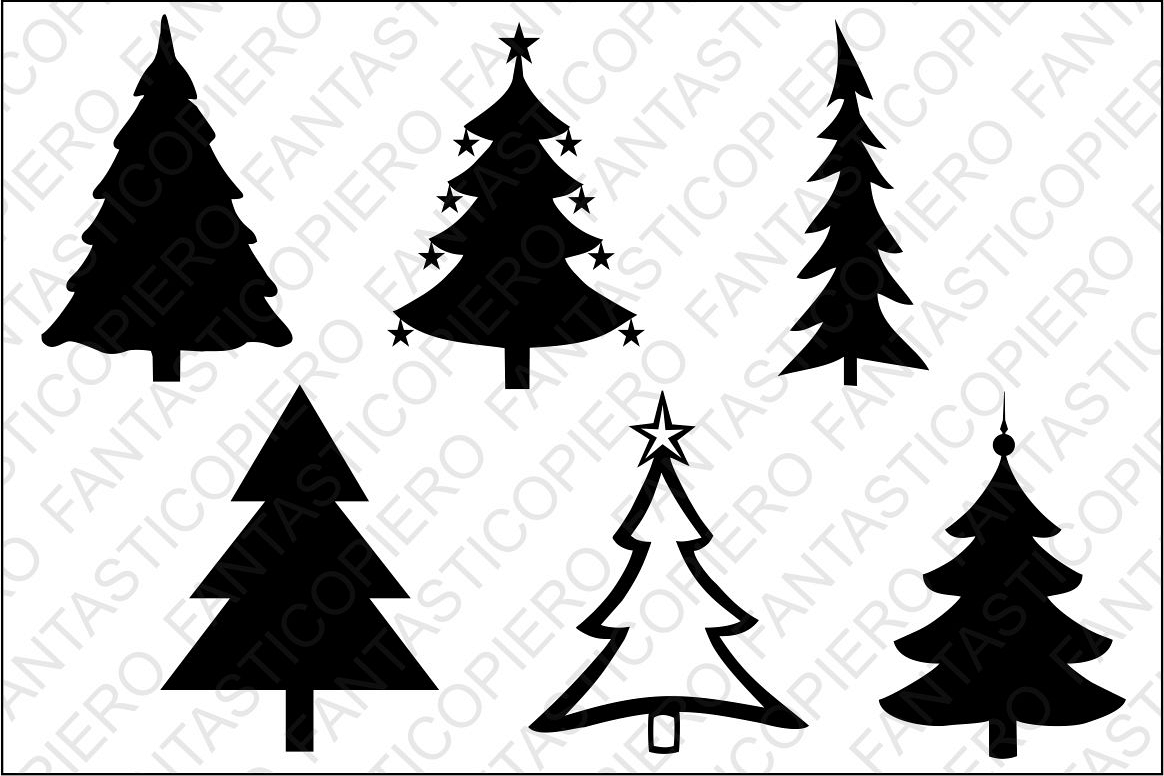 Christmas tree SVG files for Silhouette and Cricut