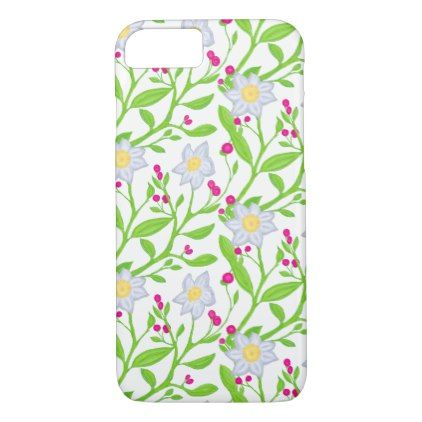 Big flowers and berries iPhone 8/7 case - flowers floral flower design unique style