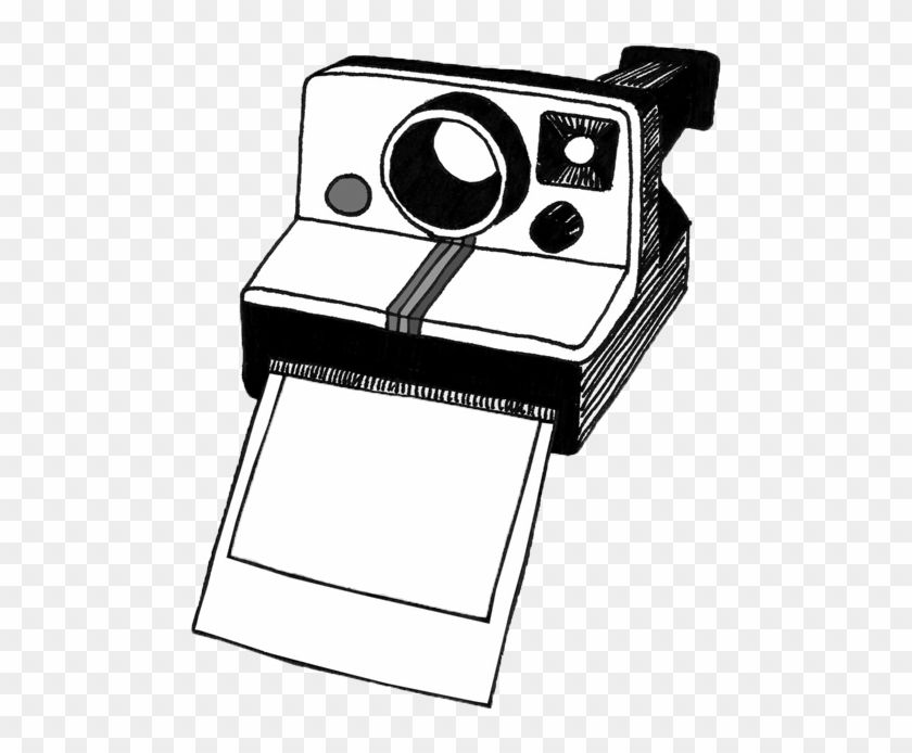 Polaroid white. Camera clipart black and
