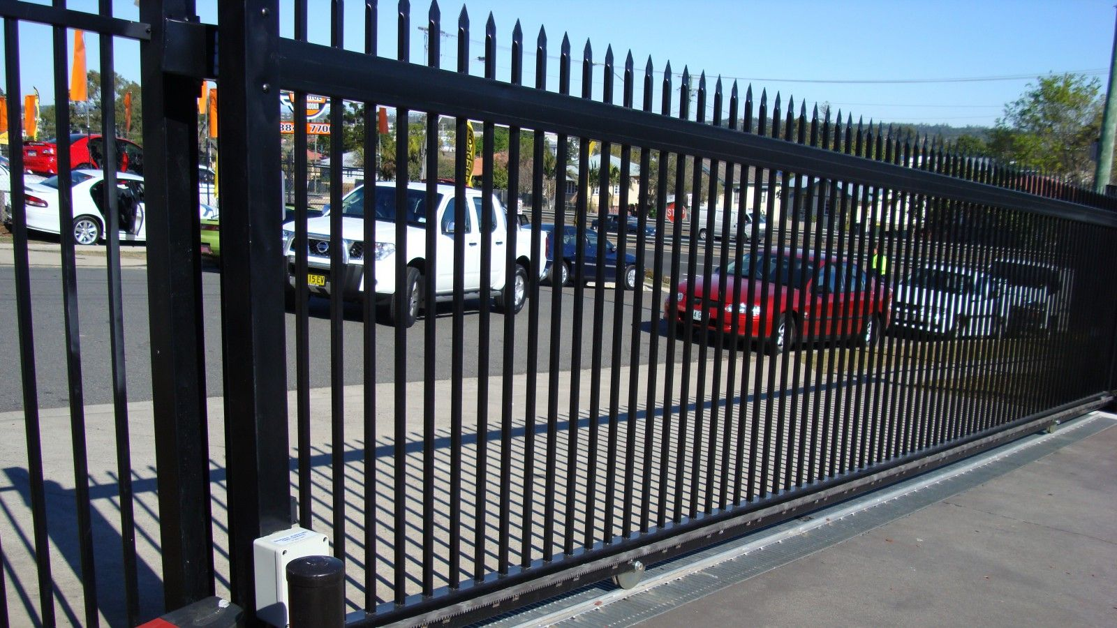 Commercial Gates Images Gallery And Pictures Brisbane Automatic Gates Industrial Office Design Automatic Gate Commercial