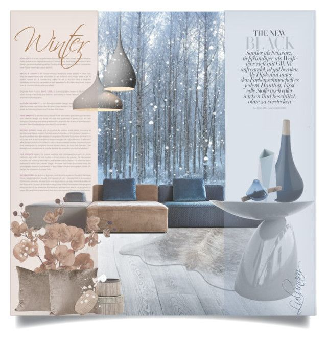 """""""Winter Wonderland"""" by lulunam ❤ liked on Polyvore featuring interior, interiors, interior design, home, home decor, interior decorating, Yerra, Pigeon & Poodle, Dot & Bo and Rosenthal"""