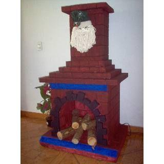 Como hacer chimeneas navide as en icopor buscar con - Hacer chimenea decorativa ...