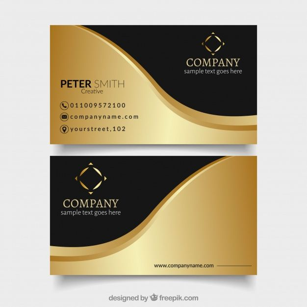 Download Modern Vip Cards With Golden Wave For Free Vip Card Vip Card Design Business Cards Layout