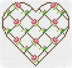 heart shaped cross stitch - Google Search
