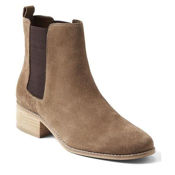 02bd7e4ed9345 Gap Women Chelsea Boots ($98) ❤ liked on Polyvore featuring shoes, boots,  regular, tobacco, slip on boots, leather chelsea ankle boots, leather  shoes, ...