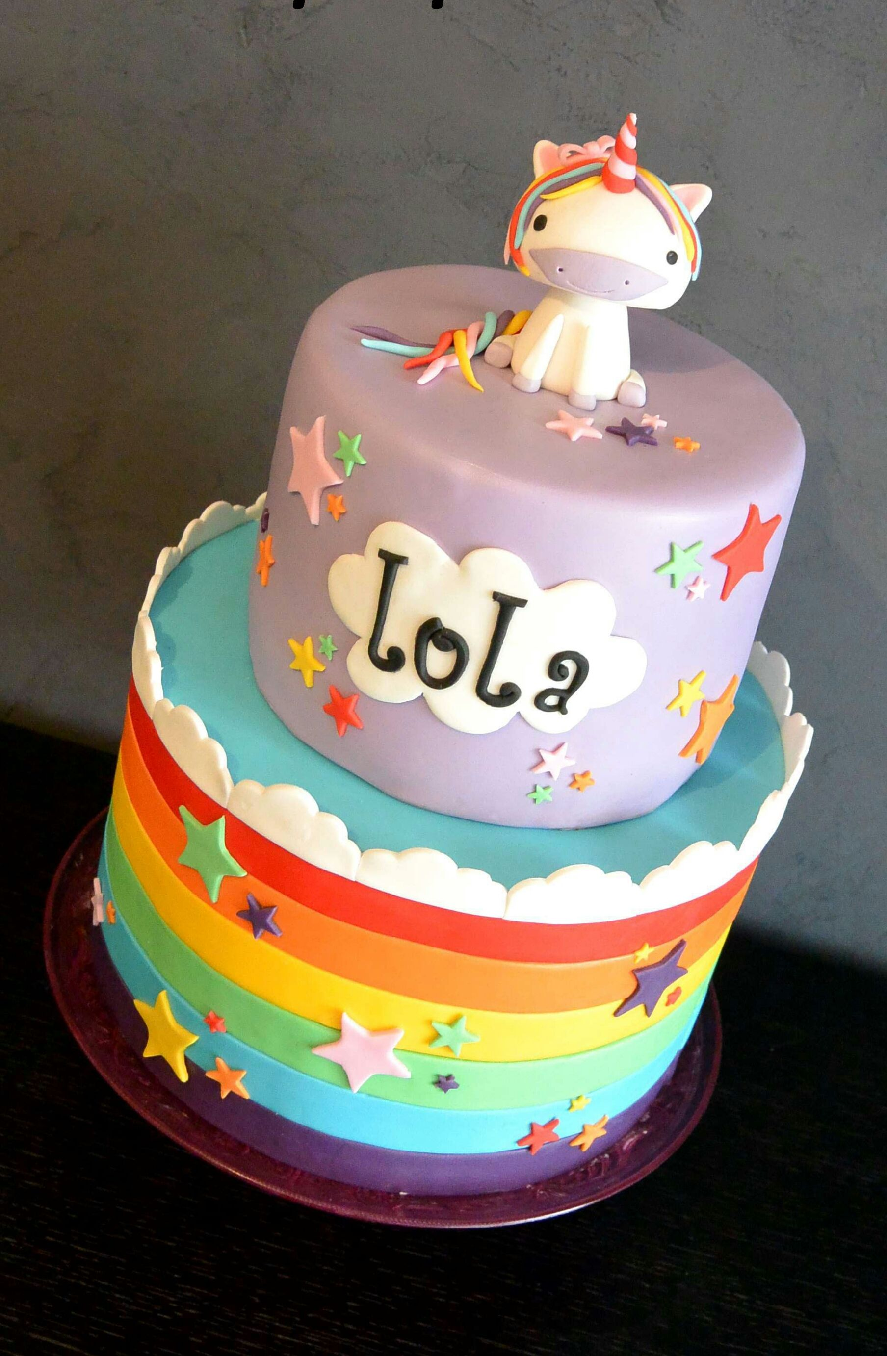 Cake design la licorne magique by clara83 cake for Decoration gateau licorne