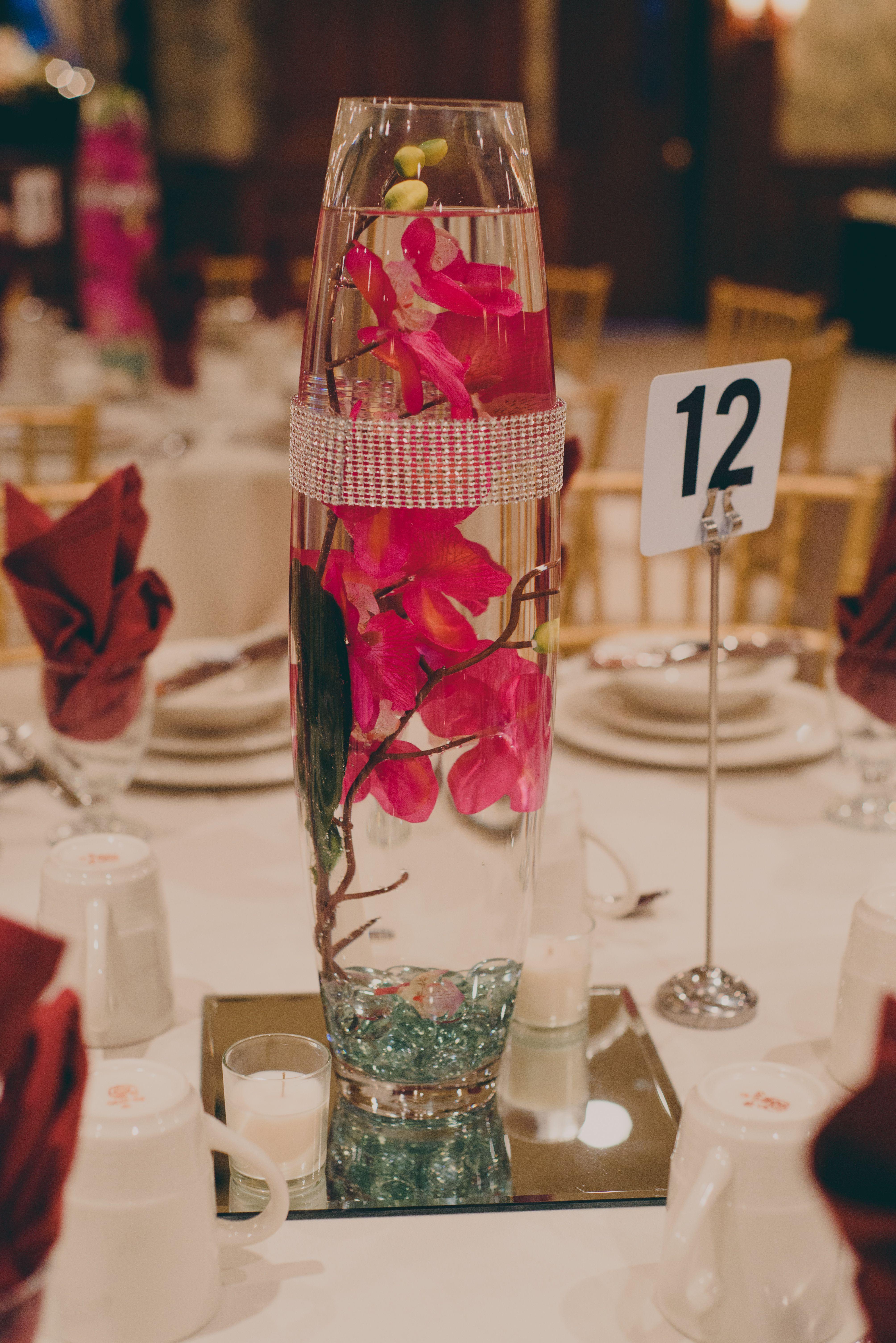 Centerpiece idea. DIY. Vase from hobby lobby, flowers from